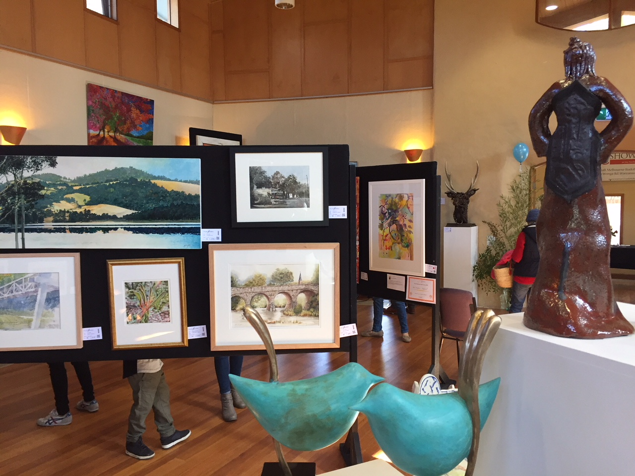 Stunning art at 2018 art show including Ted Secombe's Wrens in foreground