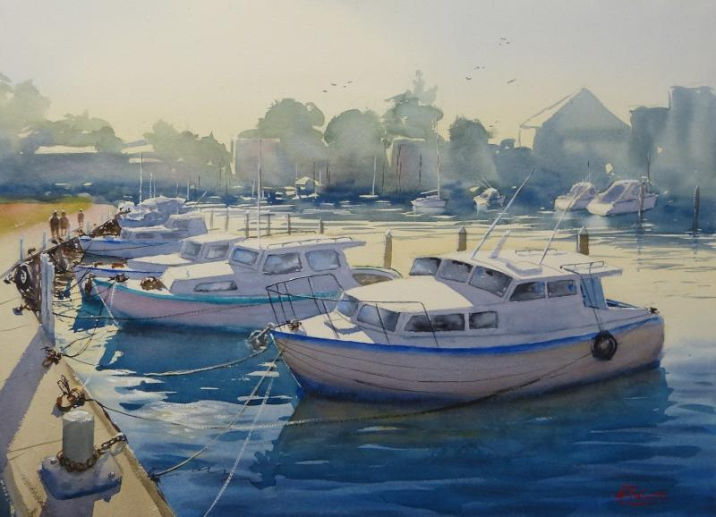 © Tony Weston - Bright Morning, Mordialloc Creek