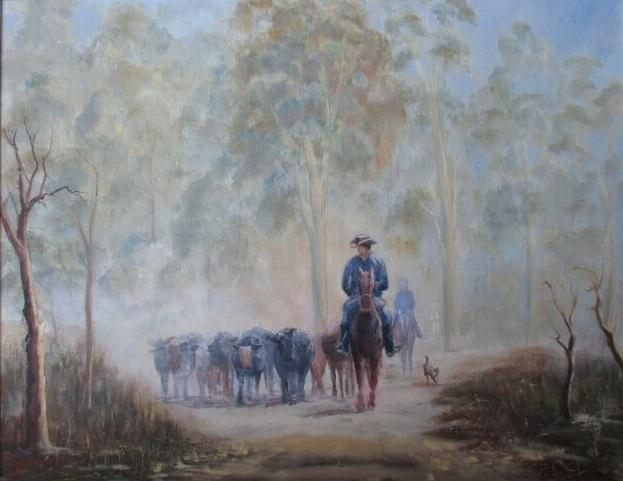© John Monkman - Droving in the Barmah
