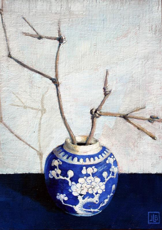 © Janette Bird - Still life in blue and white