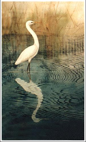© Ona Henderson - Egret reflected