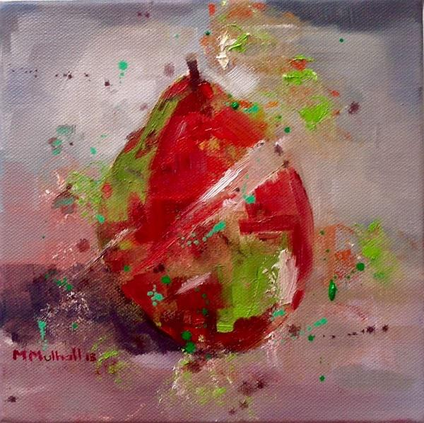 © Margaret Mulhall - Red Anjou Pear