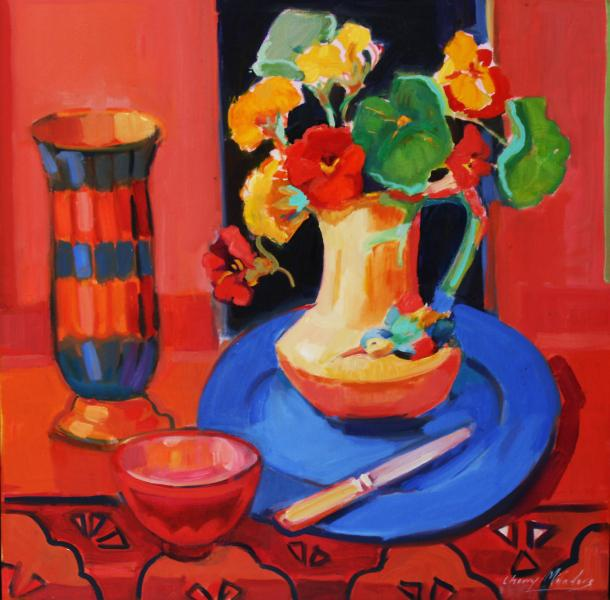 © Cherry Manders - Still life with art deco vase